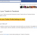 How to Sync your Twitter and Facebook Updates