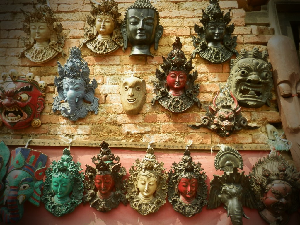 weird masks in Nepal