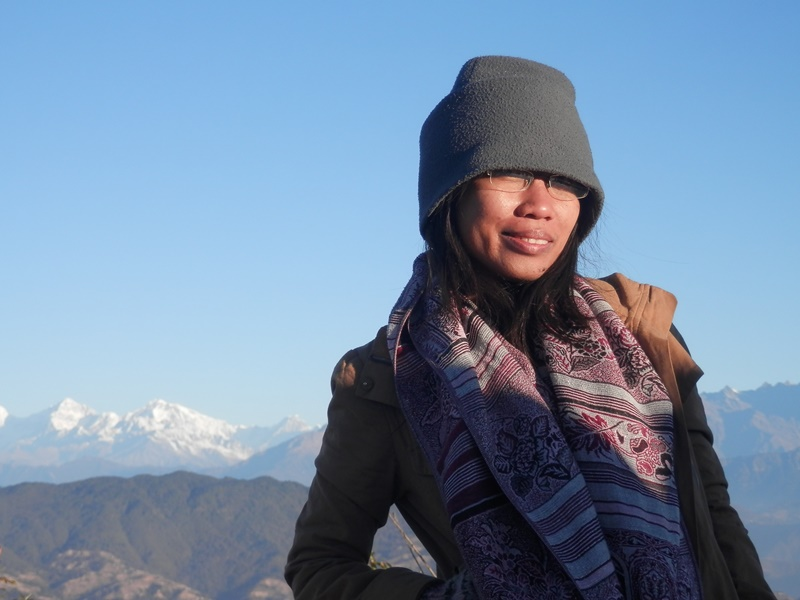 grasya with scarf in Nepal